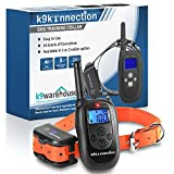 K9KONNECTION Dog Training Collar with Remote - Waterproof and Rechargeable Electronic No Bark Shock E-Collar - Fits All Size Dogs - 100 Levels of Beep, Vibration, Shock - 330 Yards - Manual Included