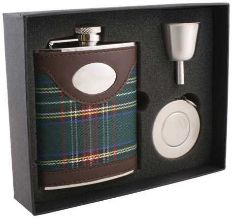 Buy Visol Edinburgh Plaid Cloth Wrapped Stellar Flask Gift Set 6 Ounce Brown Online At Low Prices In India Amazon In