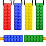 Sensory Chew Necklace – 6 Pack(4 Chewing Necklace + 2 Bonus Pencil Topper) with 2 Different Hardness for Boys & Girls with Autism, ADHD, SPD, Oral Motor Teething & Biting Needs