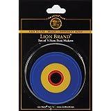 Lion Brand Yarn 400-5-6002 Pom-Pom Maker, 1-Inch to 3-Inch, 3-Pack, White
