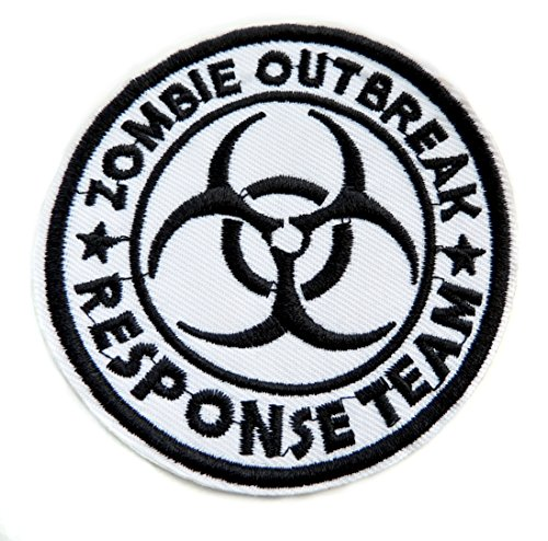 Zombie OutBreak Response Team Patch - Zombie Hunter Embroidered Iron On Patches - Halloween Tactical Apocalypse Walking Dead Appliques