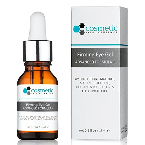 Best Vitamin C Eye Gel Advanced Formula + 0.5 oz / 15 ml – 5% Vitamin C, 0.5% Ferulic acid, Hyaluronic acid, tightens, reduces lines, for orbital area. Review