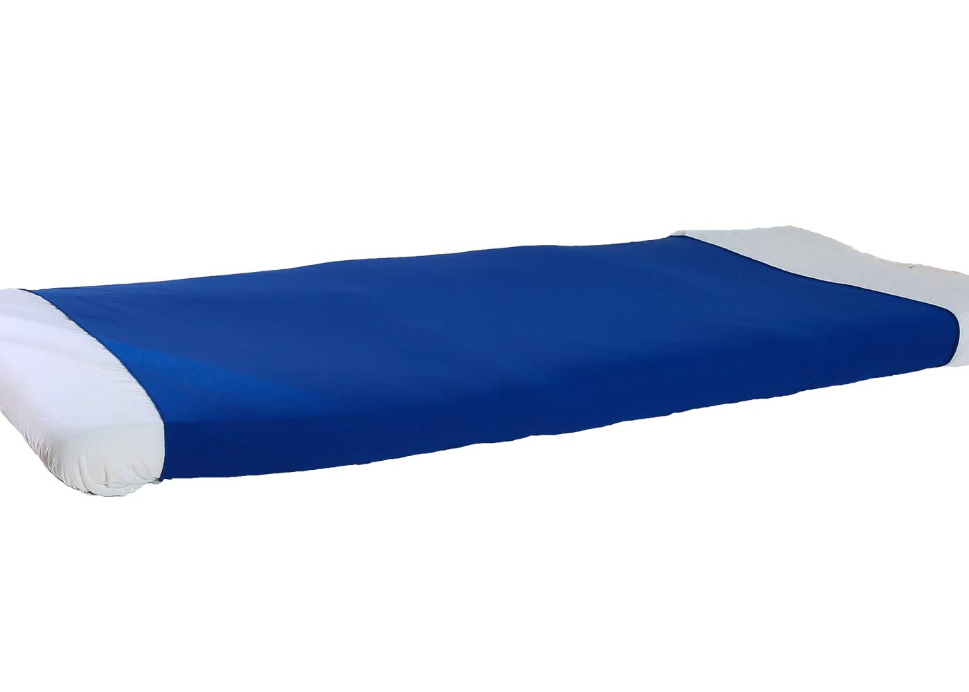BUZIO Pouch Sensory Bed Sheet for Kids - Compression Alternative to Heavy Blanket, Breathable, Stretchy, Adjustable, Twin, Royal Blue