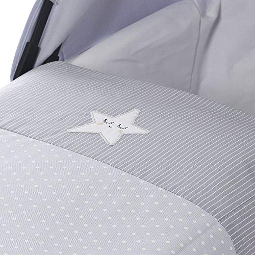 Piccolandy Good Night - Colcha para cochecito, color gris: Amazon.es: Bebé