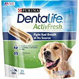 Purina DentaLife Large Breed Dog Dental Chews, ActivFresh Daily Oral Care Large Chews - 21 ct. Pouch: more info