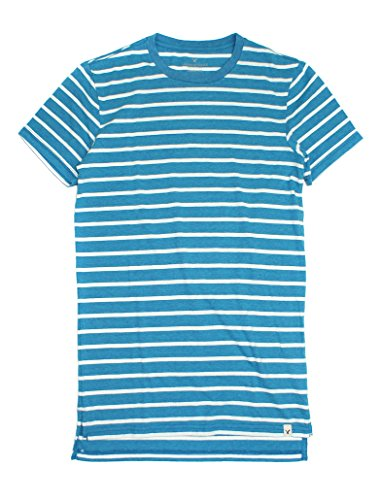 American Eagle Men's Seriously Soft Stripe Crew T-Shirt 018 (XX-Large, Aqua) -