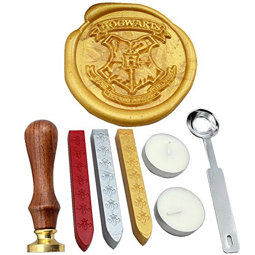 FQL Harry Potter Hogwarts School Wax Seal Stamp Rosewood Handle Sealing Wax(HOG) (Red Wax Seal Stickers compare prices)