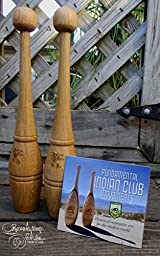Indian Clubs - Oak 3/4 Pound Pair with Training DVD