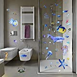 116 Pieces Under The Sea Wall Decals Jellyfish Wall
