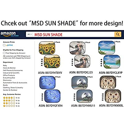 MSD Car Sun Shade Windshield Sunshade Universal Fit 2 Pack, Block Sun Glare, UV and Heat, Protect Car Interior, Image ID: 37838391 Beautiful Multicolored Fractal Flower in Stained Glass Window Style: Automotive