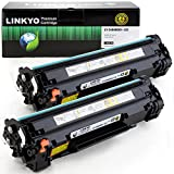 LINKYO Compatible Toner Cartridges Replacement for Canon 125 3484B001AA (Black, 2-Pack)
