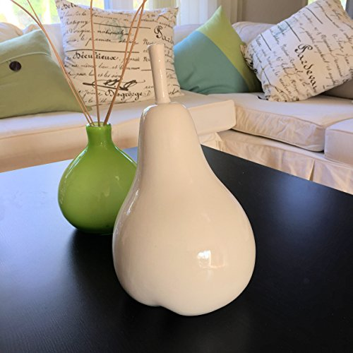 The Crosby Street Chic Decorative Pear, Porcelain, 11