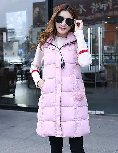 Libero Pink Eleganti Giacca Autunno Trapuntato Gilet Con Sleeveless R1wxdBv