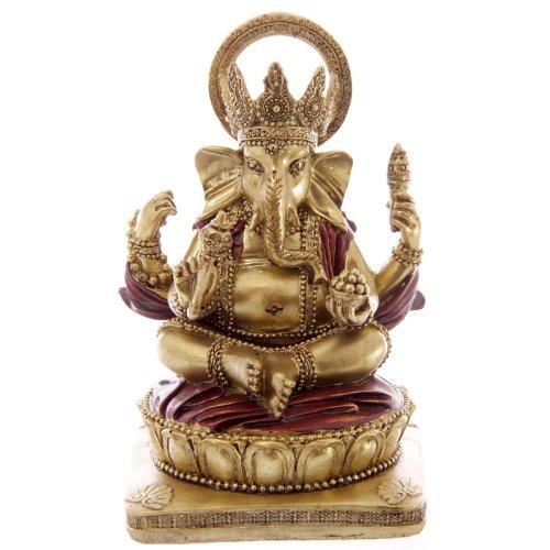 PUCKATOR GAN06 14 cm Estatua de Ganesha Color Rojo