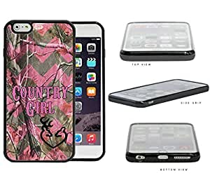 Country Girl Pink Chevron Camouflage TPU Rubber Silicone Protective Case for iPhone 6 (4.7 inch)