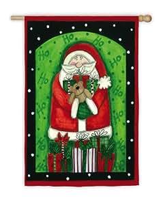 De Papá Noel y regalos de la bandera de House
