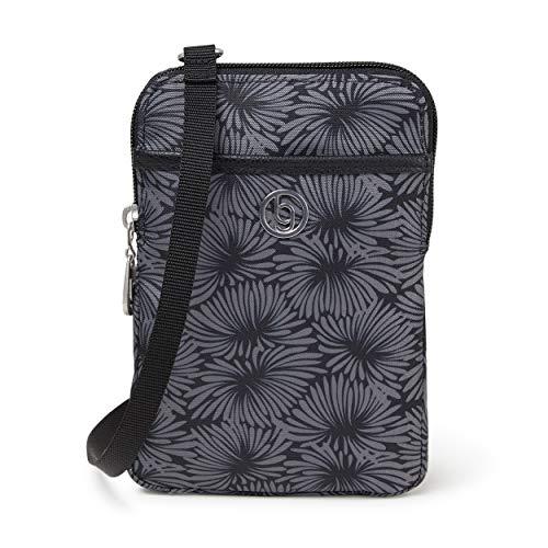 BG by Baggallini Arlington Mini Bag - Stylish, Lightweight, Adjustable-Strap Purse With Multiple Pockets and RFID Protection, Lunar Bloom Print ()