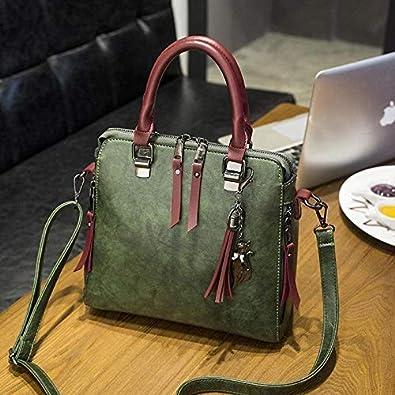 dbde80daff3 Amazon.com: Hot Bag Tassel Vintage Female Bag New Black Green Women ...