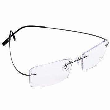 c648f4499c83 Titanium Rimless Photochromic Gray Reading Glasses +1.75 Mens Womens Gray  Frame Readers Spectacles w Case