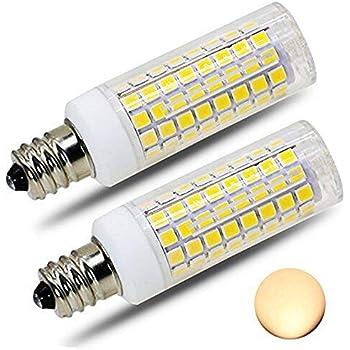 2 pack e12 led bulb candelabra light bulbs 8w 100w 850lm equivalent ceiling fan bulbs warm. Black Bedroom Furniture Sets. Home Design Ideas