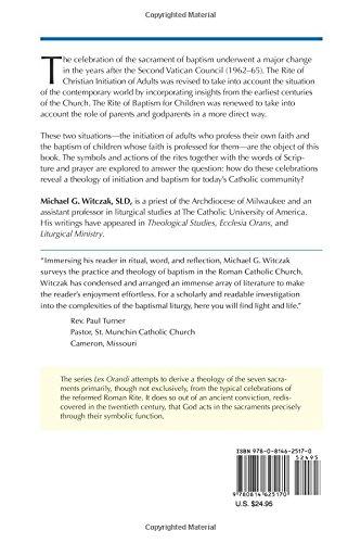 The Sacrament Of Baptism Lex Orandi Unnumbered Michael G