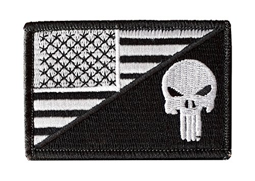 usa-flag-punisher-skull-2x3-military-patch-morale-patch-black-white-sew-on-hook-and-loop-fastener-ba