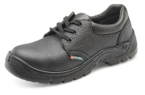Click Dual Density Safety Shoe Steel Toe&Midsole Black - Size 36/3
