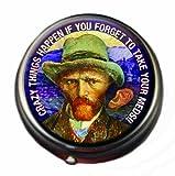 Van Gogh Pill Box - Compact 1 or 2 Compartment Medicine Case