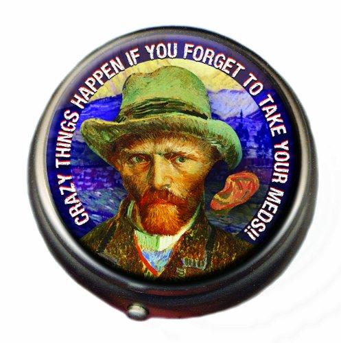 - Van Gogh Pill Box - Compact 1 or 2 Compartment Medicine Case