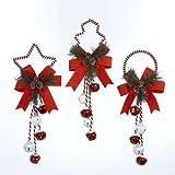 Kurt Adler 14'' Metal Christmas Bell Door Hanging Ornament (Set of 3)