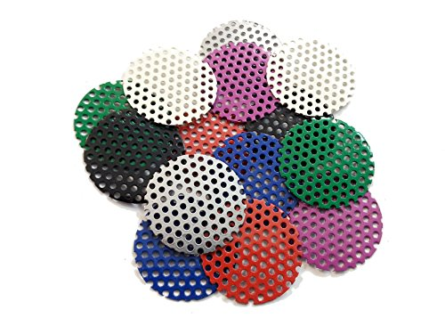 Sparks 50mm Perforated Steel Mesh Replacement Lenses for Steampunk Goggles (7 Pairs)