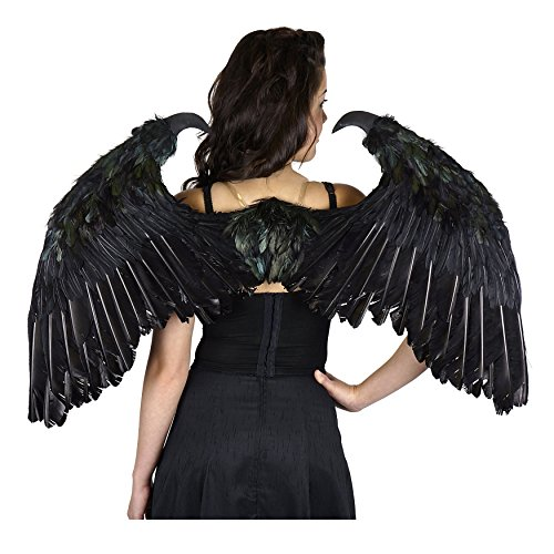 Zucker Feather Products Maleficent Inspired Feather Wings, Small, Black (Adult Rooster Costume)