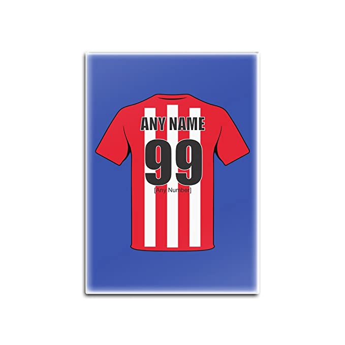 Football Themed Personalised Gift Any NAME /& NUMBER SHIRT Sunderland Colours