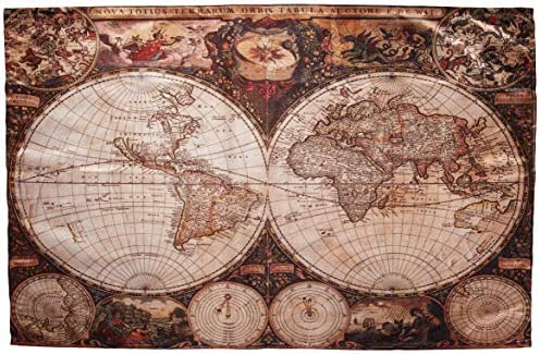 Ambesonne World Map Tapestry Vintage Wanderlust Decor, Image of Old on old map sea monsters, old world maps framed, ancient beasts and monsters, antique nautical monsters, maps with sea monsters, see monsters, old world maps with mermaids, nice silly sea monsters, old maps of the world, map of us monsters, old world map with countries, here there be monsters, old world maps murals, old world explorer maps, old world maps printable, old japanese monsters, ancient sea monsters, vintage maritime sea monsters, old nautical maps,