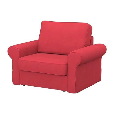 Soferia - IKEA BACKABRO Funda para sillón, Eco Leather Dark ...