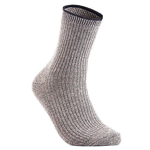 Lian LifeStyle Big Girl's 4 Pairs Wool Crew Socks HR1612 Size L/XL Casual - Friday Black Do Stores Have Sales Designer