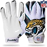 image for NFL Jacksonville Jaguars Youth Receiver Gloves,White,Medium