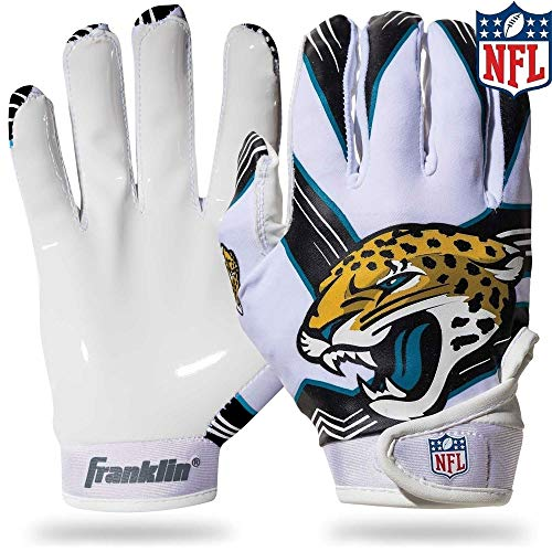 NFL Jacksonville Jaguars Youth Receiver Gloves,White,Medium