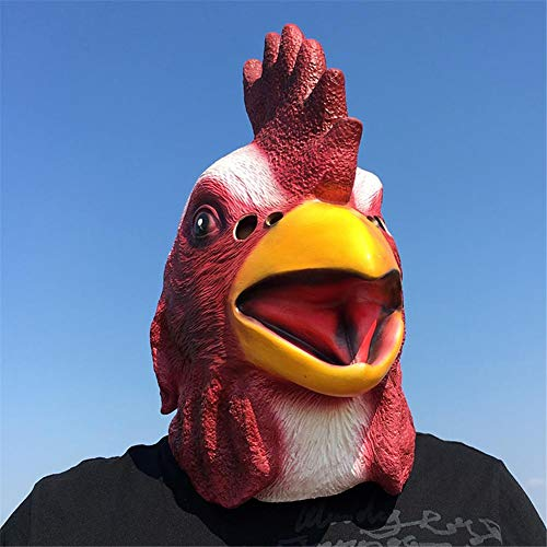 Culturemart Halloween Decoration Christmas Cosplay Mask Rooster Chicken Head Mask Costume Animal Full Head Mas ping for $<!--$73.69-->