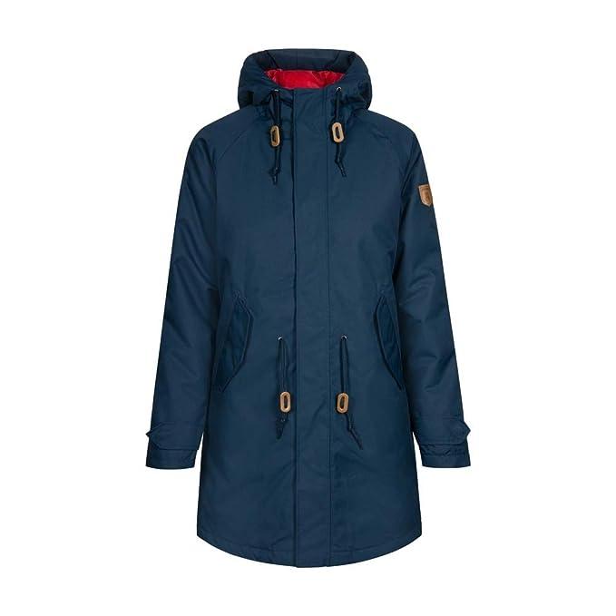 Derbe Damen Regenjacke Travel Friese Striped oliv grün Frauen Regen-Mantel Jacke