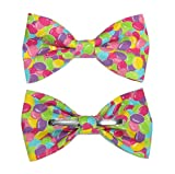 amy2004marie Men's Colorful Jelly Beans Clip On Cotton Bow Tie