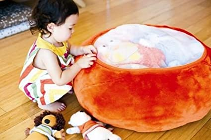 Fine Boon Animal Bag Stuffed Animal Storage Orange Evergreenethics Interior Chair Design Evergreenethicsorg