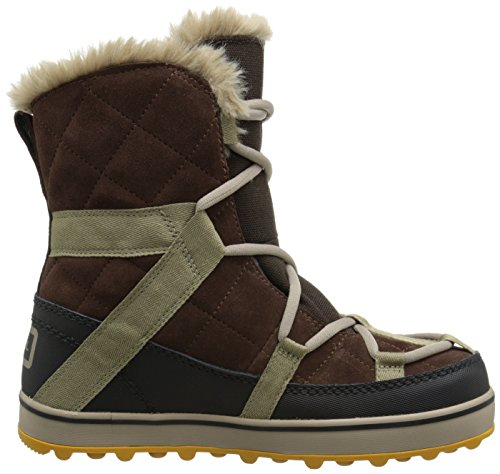 Sorel GLACY EXPLORER SHORTIE - botas de caño bajo de cuero mujer Marrón (Tobacco 256)