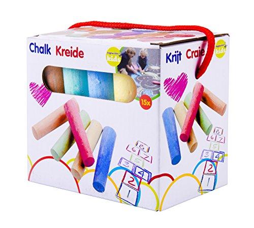Eddy Toys 90726 - Straßenkreide, KinderKreide, 15 teilig, verschieden farben