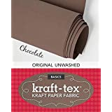 "kraft-tex Chocolate Original Unwashed: Kraft Fabric Paper, 19"" x 1.5 Yard Roll (kraft-tex Basics)"