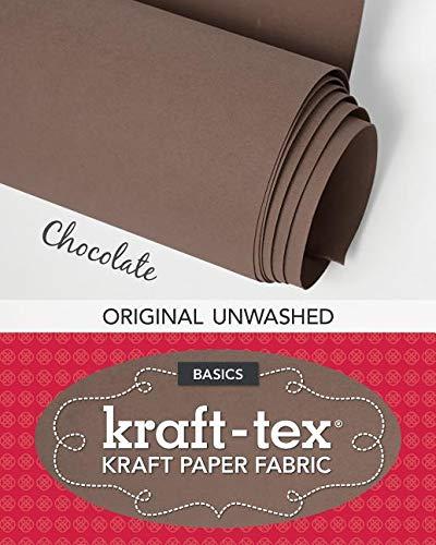 "kraft-tex Basics kraft-tex White Original Unwashed Kraft Fabric Paper 19"" x 1.5 Yard Roll"