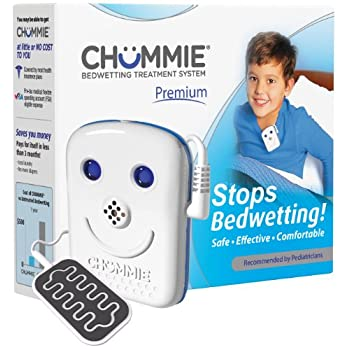 Image of Home and Kitchen Chummie Premium Bedwetting Alarm for Deep Sleepers - Award Winning, Clinically Proven System with Loud Sounds, Bright Lights and Strong Vibrations, Blue