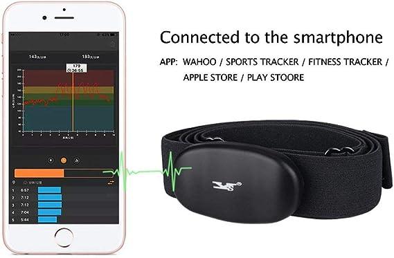 Monitor de ritmo cardíaco DINOKA Bluetooth 4.0 ANT+, inalámbrico ...
