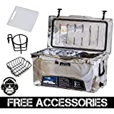 75QT CAMO DESERT GREEN COLD BASTARD Rugged Series ICE CHEST COOLER Free Accessories YETI Quality Free S&H