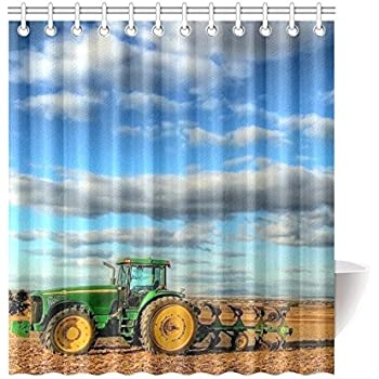 Amazon Com John Deere Shower Curtain Big Tracks Fabric 72